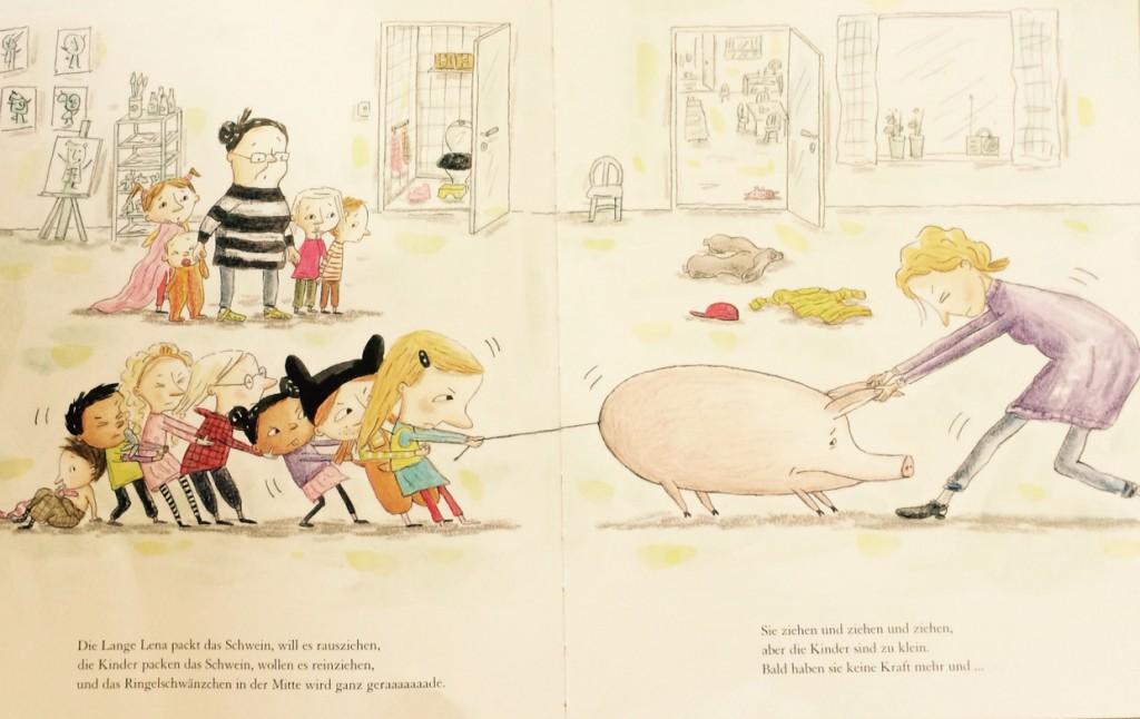 Ein Schwein im Kindergarten von Johanna Thydell und Charlotte Ramel