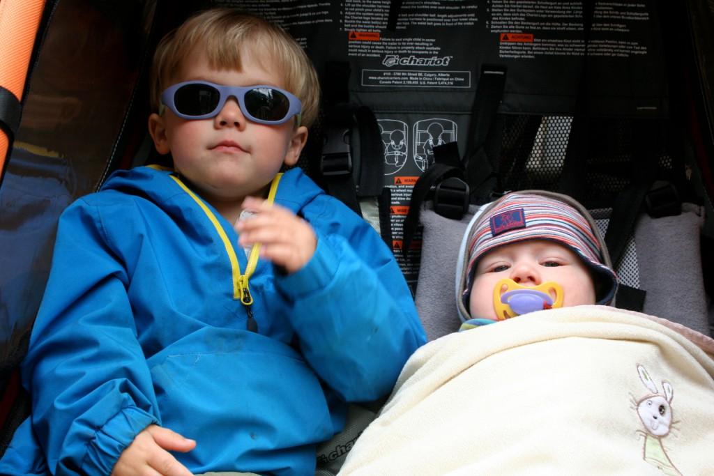 Geschwister, Fahrradanhänger
