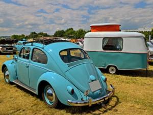 VW Käfer Wohnwagen camping 50erJahre