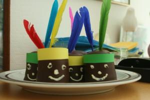 Indianerparty Schaumküsse Kuchen für Indianerparty