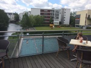 Bill-Bad Bistro Aussicht Schwimmbad Bergedorf