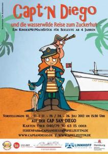 Mitmachtheater Capt'n Diego auf Cap San Diego Hamburger Hafen Plakat