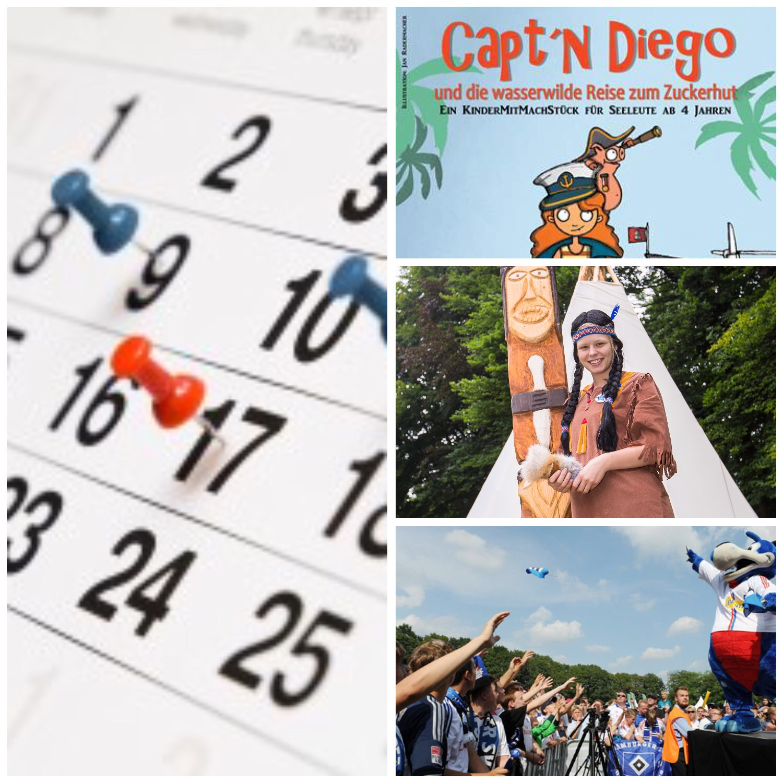Highlight der Woche Wildestfest Wilpark Lüneburger Heide, HSV Familienfest Capt'n Diego Mitmachtheater auf Cap San Diego