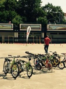 Rollschubahn Fahrradtraining Verkehrswacht