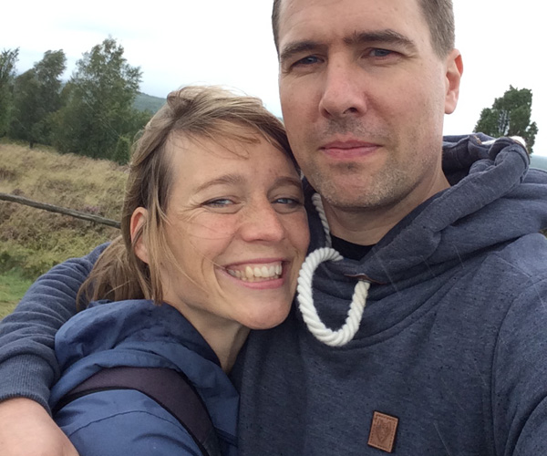 und nach so viel Zweisamkeit und Naturschönheit: ein glückliches Paar!