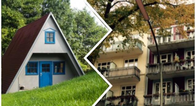 Stadtwohnung Eigenheim im Grünen
