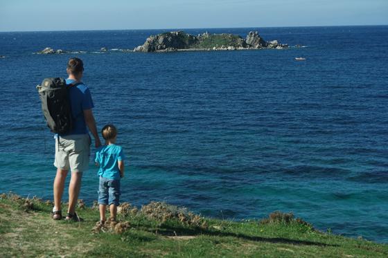 Zwei Männer und das Meer