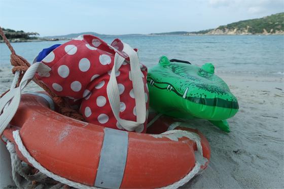Unsere treuen Begleiter: Krokodil und Tupfentasche