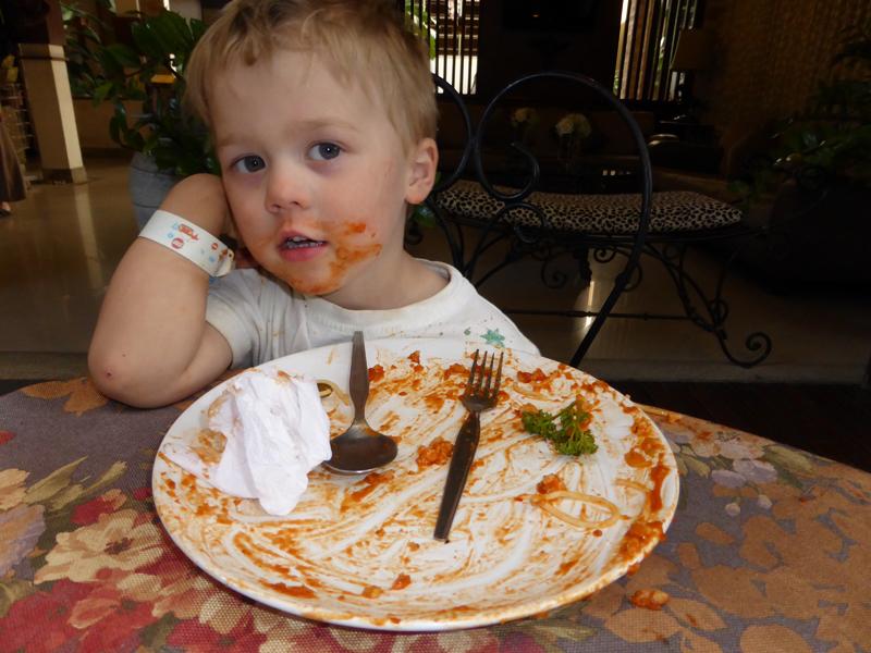 Die erste Portion Spaghetti nach zwei Wochen im Outback