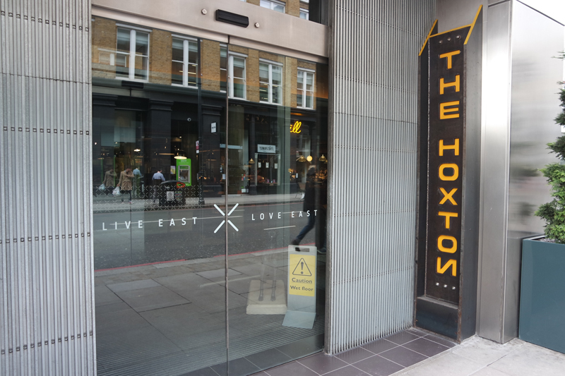 Eingang The Hoxton