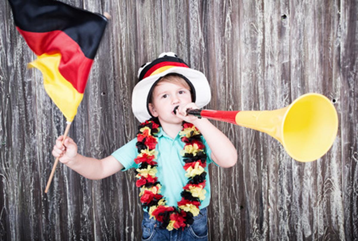 EM 2016 Kinder Fußball Fan Deutschland