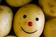 Kartoffel mit Gesicht