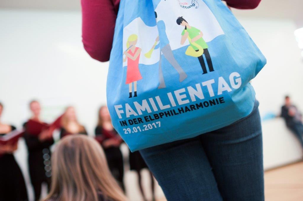 Der Goodiebag zur Veranstaltung: Unserer Erinnerung an den Elbphilharmonie-Familientag