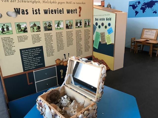Kindgerecht wird erklärt, wie früher der Tauschhandel funktionierte. Und wusstet ihr, dass in vielen Gegenden am Meer sogar Muscheln ein Zahlungsmittel waren?