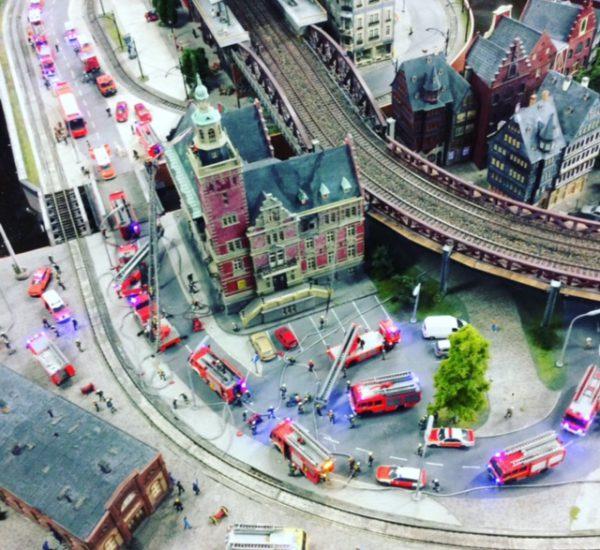 Miniaturwunderland Hamburg Feuerwehreinsatz